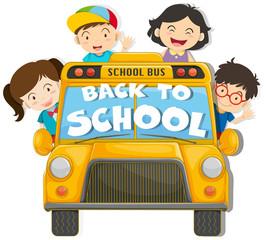 Children riding on the school bus