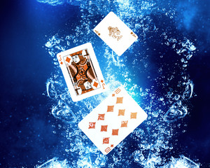 Poker game. Concept image