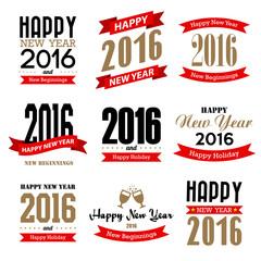 Happy new year typographic  design