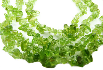 chrysolite gemstone beads necklace jewelery