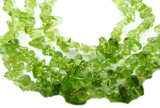 chrysolite gemstone beads necklace jewelery