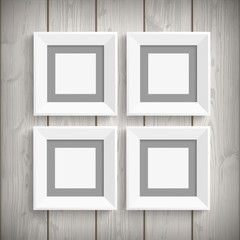 4 Picture Frames Wood