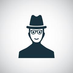 man hat glasses icon