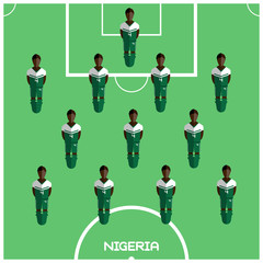 Computer game Nigeria Football club player