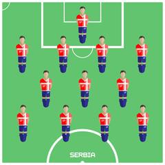Computer game Serbia Football club player