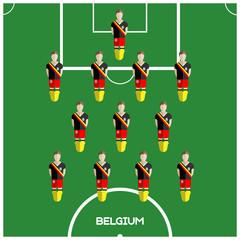 Computer game Belgium Football club player