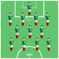 Computer game Iran Football club player