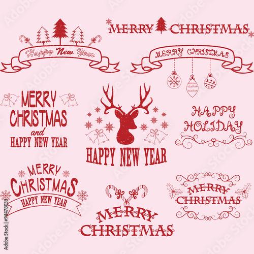 merry christmas border framesbannerchristmas deerchristmas font elements - Merry Christmas Border