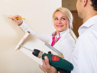 Family makes repairs at home