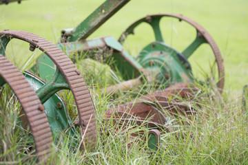 old farming lawn mower