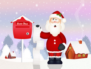 letter of Santa Claus