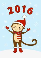 Cute cartoon monkey for Your design