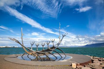 Sun Voyager sculpture in Reykjavik Iceland