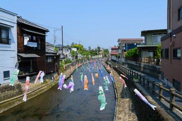 Kura remains(Japanese traditional storehouses) in the Tochigi city, Tochigi, Japan