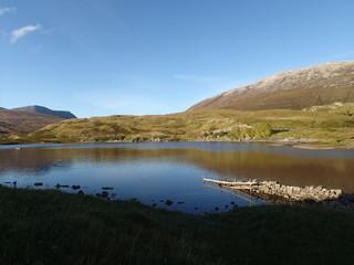 Fotoväggar - schottischer See in den Highlands