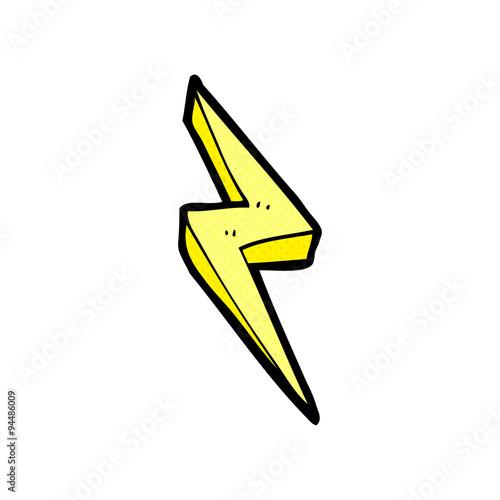 Cartoon Lightning Bolt Symbol Stock Image And Royalty Free Vector