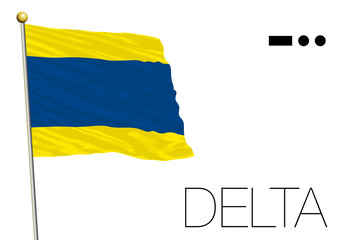 delta flag, International maritime signal