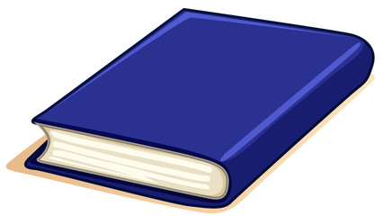Thick book with blue cover