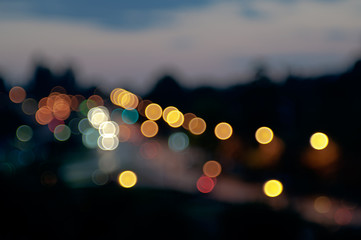 City Lights Circular Bokeh Abstract Background
