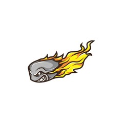 Ice Hockey Puck Mascot
