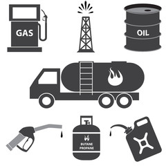 petrol and oil industry icons vector illustration