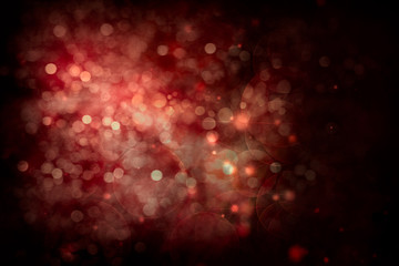 Abstract Festive Background. Glowing Colorful Bokeh