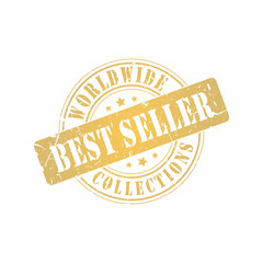 Vector Best Seller Worldwide Collections stamp