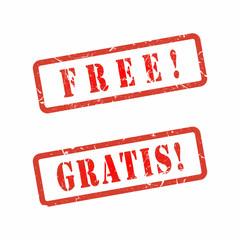 Vector Free Gratis stamp