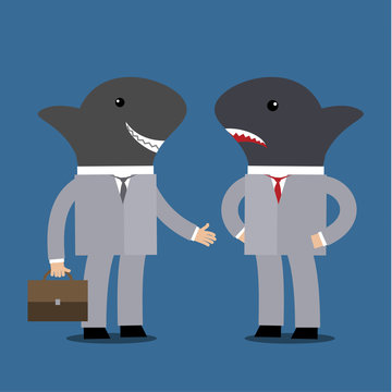 Concept of business shark