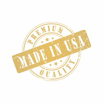 Vector Premium Quality Made in USA stamp