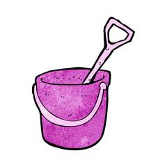 cartoon bucket and spade
