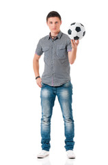 Man with soccer ball