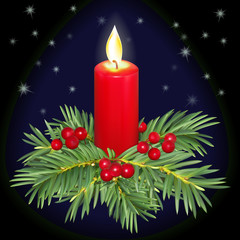 Christmas candle