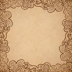 Background floral frame