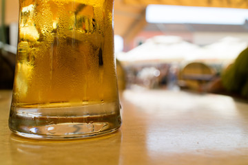 Acrylic Prints Kitchen beer in the bar