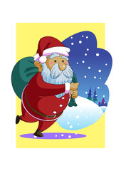 Christmas santa claus cartoon vector holiday