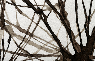 watercolor abstract lines on a white background