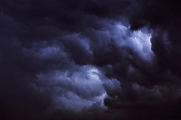 Clouds of storm. Ukrainian sky.