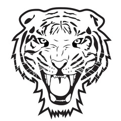 Tiger outline illustration vector