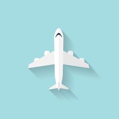 Plane flat web icon