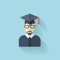 Flat teacher icon