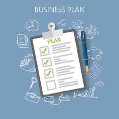 Business plan Flat vector illustration
