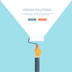 Vector illustration, flat concept background for design with
