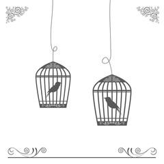birdcage vintage design