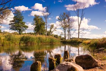 Elk River in end of summer.  Masuria, Poland.