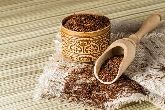 Dry ethnic african rooibos tea
