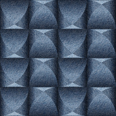 Abstract paneling pattern - seamless background - blue jeans tex