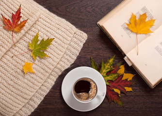 Autumn coffee and poems