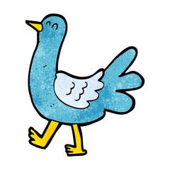 cartoon walking bird