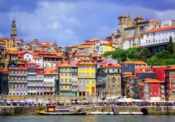 Ribeira, the old town of Porto, Portugal Fototapete